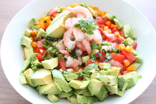 "Shrimp ""Grok-amole"" Salad"