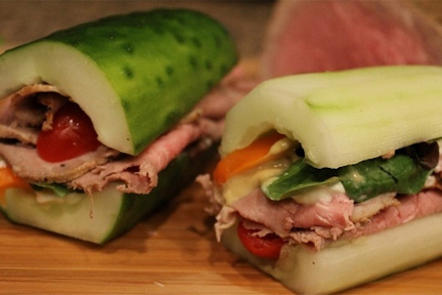 Cucumber Log Sandwich
