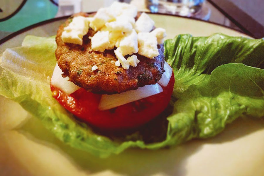 Greek Turkey Burger